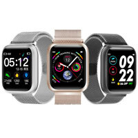 Smartwatch F11Pro Bluetooth Uhr Curved Display Android iOS Samsung iPhone Huawei