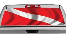 Truck Rear Window Decal Graphic [Flags / Diver Down] 20x65in DC88102