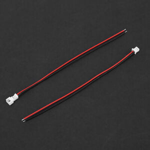 20 Sets JST 1.25MM 2-Pin Male&Female Connector Plug W/ Wires for Circuit Board