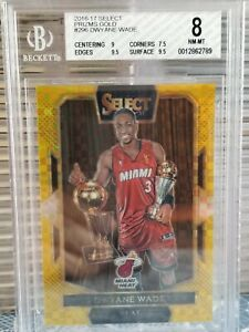 2016-17 Select Dwyane Wade Prizms Gold Trophy #10/10 BGS 8 (1 Corner Issue)