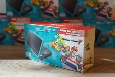 Nintendo 2ds XL Black Turquoise Handheld Console With Mario Kart 7 - Brand New