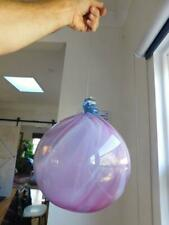 HUGE! Australian? Hand Blown Art Glass Oversize Bauble Sphere Witches Ball!