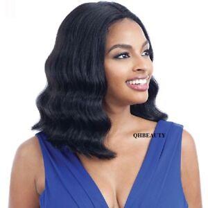 Freetress Equal Synthetic 5 Inch Lace Part Short Medium Wavy Hair Wig - MALINA
