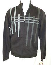 ALFANI Black Grey Stripe Sweatshirt NWT Small
