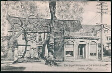 SALEM MA Roger Williams Old Witch House Vintage B&W Postcard Early Town View PC