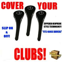 FULL COMPLETE 3 5 7 WOOD SET NEW DRIVER GOLF CLUB HEAD COVERS BLACK HEADCOVER