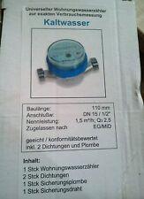 Wasserzähler Wasseruhr Kalt / Warm Qn1,5-Qn2,5 Neu