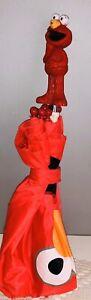 Sesame Street Plastic Handle Elmo Red Umbrella With Face Kids Children