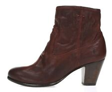 FRYE Womens Cherry Red Leather Ankle Booties Sz 6 NEW! 221775