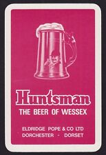 1 Single VINTAGE Swap/Playing Card ELDRIDGE POPE HUNTSMAN WESSEX Beer/Brewery