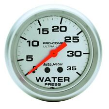 "Auto Meter 4407 2-5/8"" Water Pressure Gauge 0-35 Psi Mechanical Ultra-Lite"