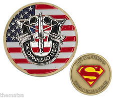 ARMY SPECIAL FORCES NOT ALL HEROES WEAR CAPE & TIGHTS SUPERMAN CHALLENGE COIN