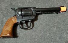 Vintage Edison Giocattoli Diecast Revolver Toy Cap Gun Italy Made Snap Cap 8shot