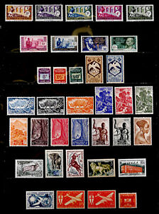 FRENCH EQUATORIAL AFRICA, FRANCE: CLASSIC - 50'S STAMP COLLECTION MOSTLY UNUSED