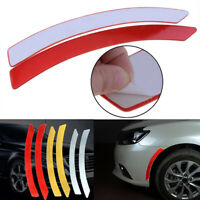 2x Red Car Wheel Eyebrow Reflective Warning Decal Reflector Safety Sticker New