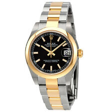 Rolex Datejust Lady 31 Black Dial Stainless Steel and 18K Yellow Gold Rolex