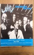 DURAN DURAN Liberty (blue) UK Poster size Press ADVERT 12x10 inches