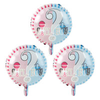 "3× 18"" FOIL BALLOONS Gender Reveal Boy or Girl Balloon Party Decorations Oh Baby"