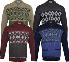 Unbranded Men's Zip Medium Knit Jumpers & Cardigans