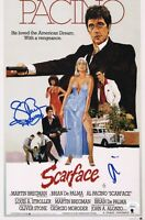 "AL PACINO & STEVEN BAUER Authentic Hand-Signed ""SCARFACE"" 11x17 Photo JSA COA"