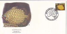 Stamp Australia 1985 Pineapple fish on USA Fleetwood FDC Melbourne postmark