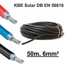 """Solarkabel, 1 x 50m, 6mm² SCHWARZ, neueste Norm """"EN 50618"""", KBE, Deutschland"""