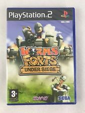 PS2 Worms Forts Under Siege (2004), UK Pal, Brand New & Sony Factory Sealed