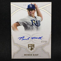 #/50! 🚨2020 Topps Definitive Brendan McKay Rookie On Card Auto Tampa Bay Rays