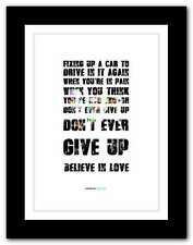 More details for ❤ coldplay up & up ❤ song lyrics poster art limited edition typography print #22
