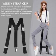 Adjustable Brace Clip-on Unisex Men Women Pants Straps Elastic Y-back Suspenders