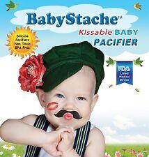 BabyStache Kissable Baby Pacifier ROMEO Black Child Infant Shower Gift Moustache