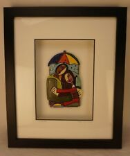 """Elliot Hubbard Clay Sculpture """"A Lovely Day"""" Framed"""