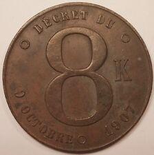 PLaque fiscale, Décret du 9 octobre 1907 8K plaque de taxe appareils à vapeur !!