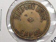 US Trade Token: Samson Bros Capac, MI. G/F 5¢.  #19