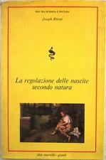 X 0545 VOLUME LA REGOLAZIONE DELLE NASCITE SECONDO NATURA DI JOSEPH ROTZER – ...