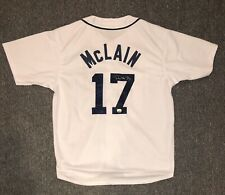 Denny McLain Signed Detroit Tigers Jersey #17 XL Mounted Memories COA 68 CY/MVP