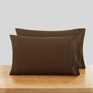 1800 Pillow Case Set Standard or King Ultra Soft Pillowcase Set of 2 Pillowcases