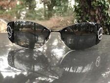 Loree Rodkin Eye Couture By Sama Cher Cristal Negro Gafas De Sol Signo de la paz 115mm
