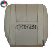 2000 Cadillac Escalade 2WD 4X4 Driver Bottom PERFORATED Leather Seat Cover Shale