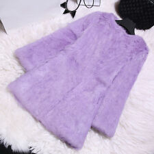 161163 New Long Real Rabbit Fur Coat Women Winter Jacket Candy Color Overcoat
