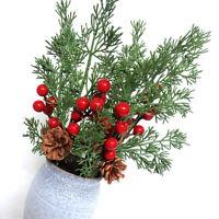 Christmas Artificial Flower Berry Pine Cone Branch Xmas Tree Ornament Home Decor