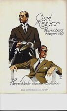 Original vintage poster print MAUER MEN'S FASHION 1926 Hohlwein