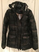 NWT Abercrombie And Fitch Women Camo Down Filled Puffer Coat Size M $180 Cute!