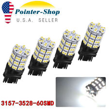 2x 3157 3156 White 60SMD High Power LED Light Bulbs Backup reverse light 12V
