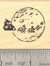 Santa sled with reindeer Rubber Stamp E14905 WM