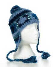 HAND Knitted Invernale di Lana Uncinetto EAR cappello, Taglia unica, unisex ceh11