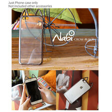 NABI 3D Cute Metallic Clear Back silicone Bumper Case Cover for iPhone Galaxy LG