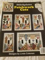 Jeremiah Junction Patchwork Cats SWITCH PLATE COVER Cross Stitch Chart Pattern