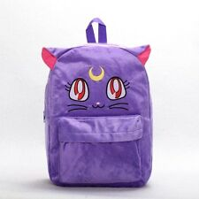 Girls Sailor Moon School bag Luna Cat Bag Backpack Collectibles Purple Anime Hot