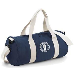 Unisex Northern Soul Original Barrel Bag With Embroidered Fist Logo. Mod, Ska,